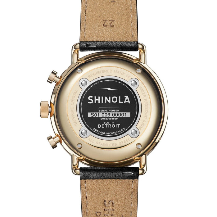 Shinola Canfield Sport 45mm Black Gold angled shot picture