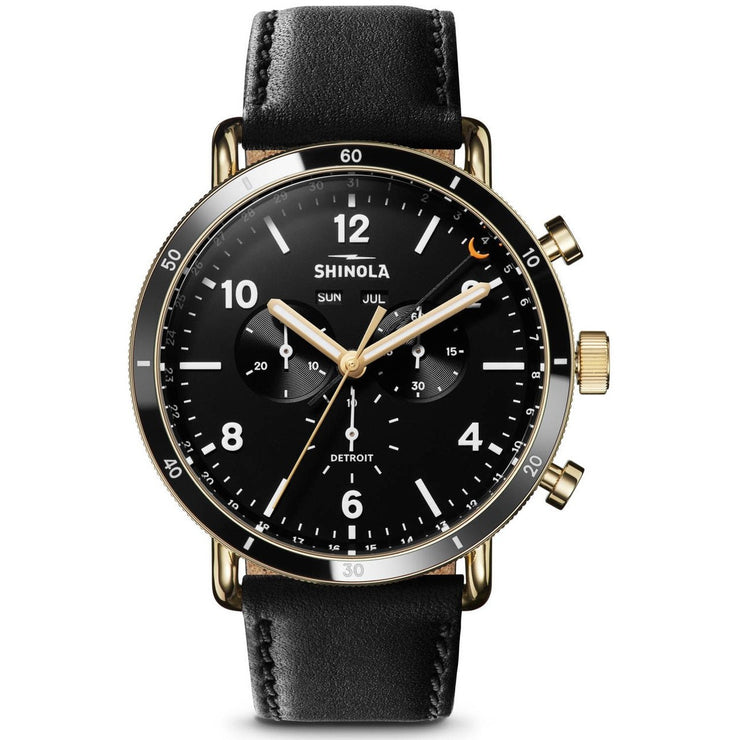 Shinola Canfield Sport 45mm Black Gold