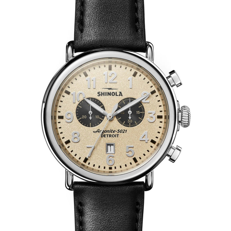 Shinola Runwell 47mm Chronograph Cream Black