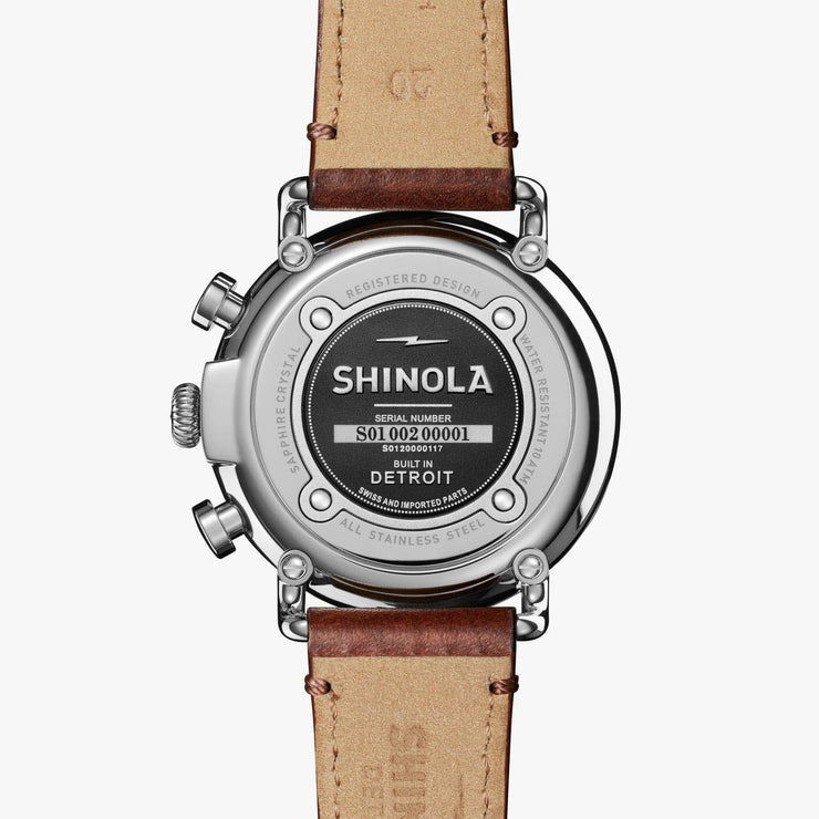 Shinola Runwell Chronograph 41mm Brown Blue
