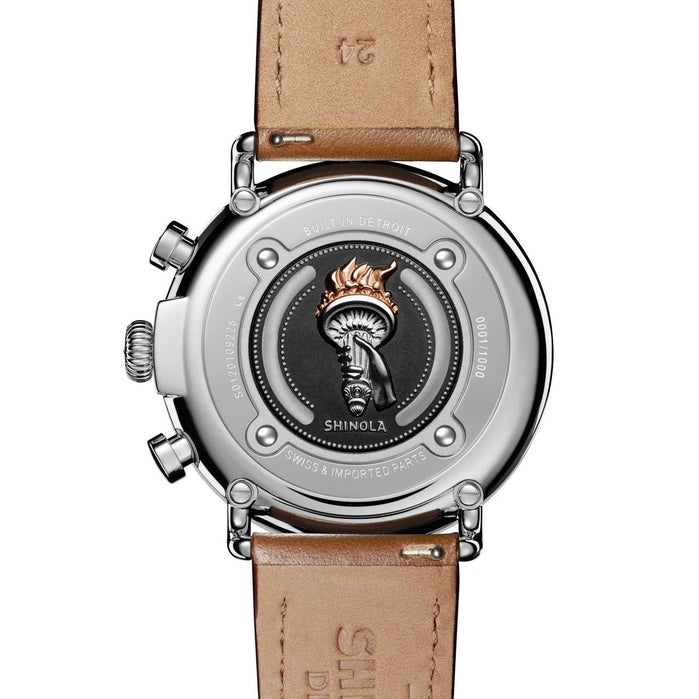 Shinola Statue of Liberty 47mm Chrono Limited Edition Brown angled shot picture