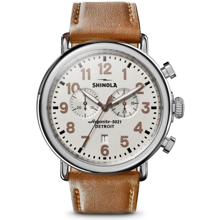 Shinola Statue of Liberty 47mm Chrono Limited Edition Brown