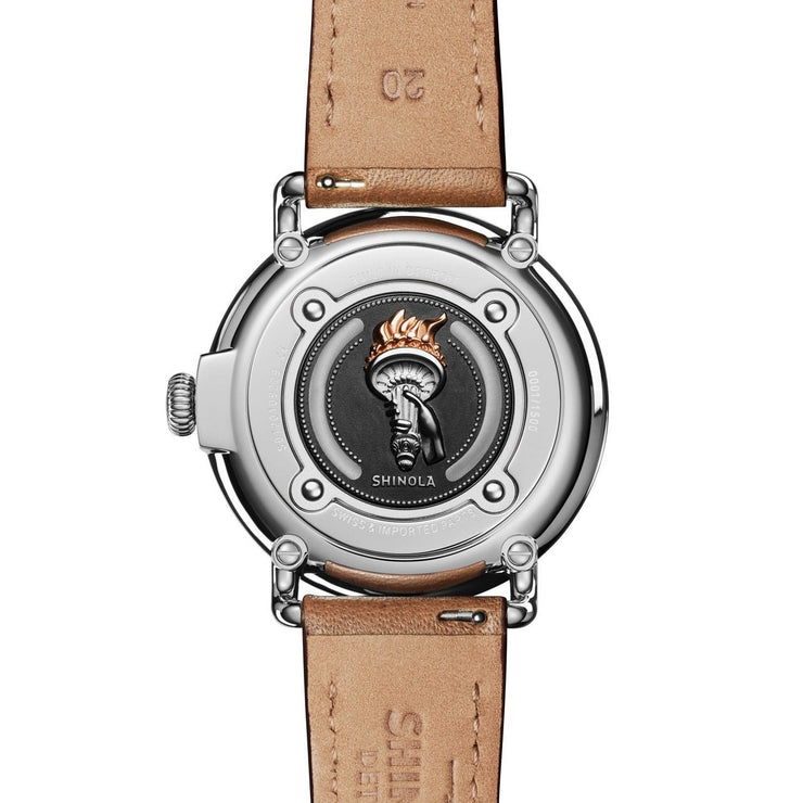 Shinola Statue of Liberty 41mm Limited Edition Brown