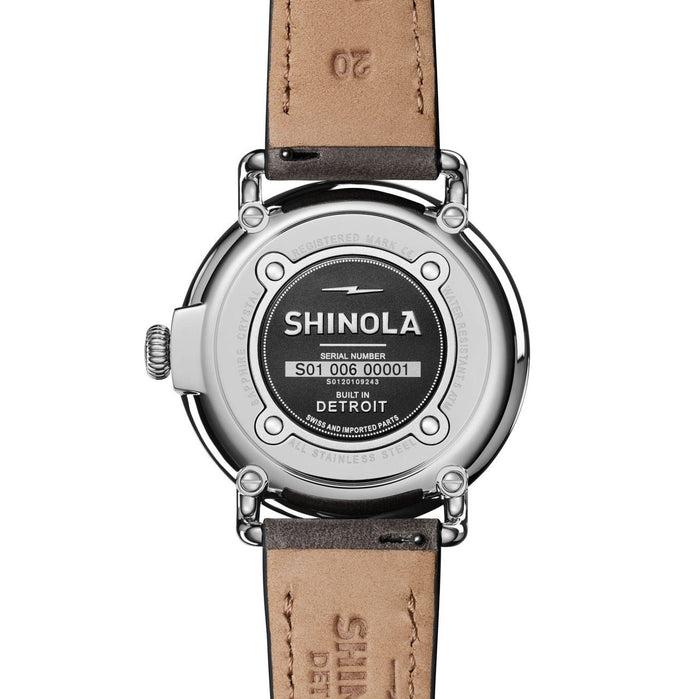 Shinola Runwell 41mm Grey Mother of Pearl angled shot picture