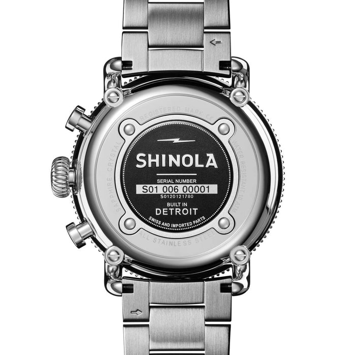 Shinola Runwell Sport Chrono 48mm Silver angled shot picture