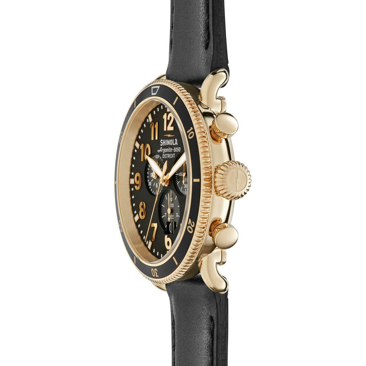 Shinola Runwell Sport Chronograph Gold