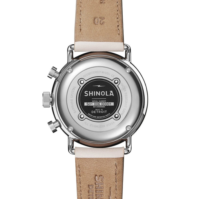 Shinola Canfield Sport Chrono 40mm Blush angled shot picture