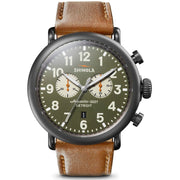 Shinola Runwell Chrono 47mm Gunmetal Green