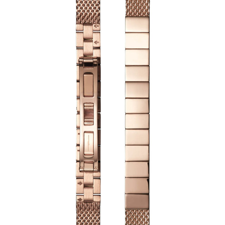 Shinola Birdy 34mm Rose Gold Mother of Pearl Mesh