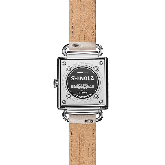 Shinola Cass 28mm Cream Pink angled shot picture