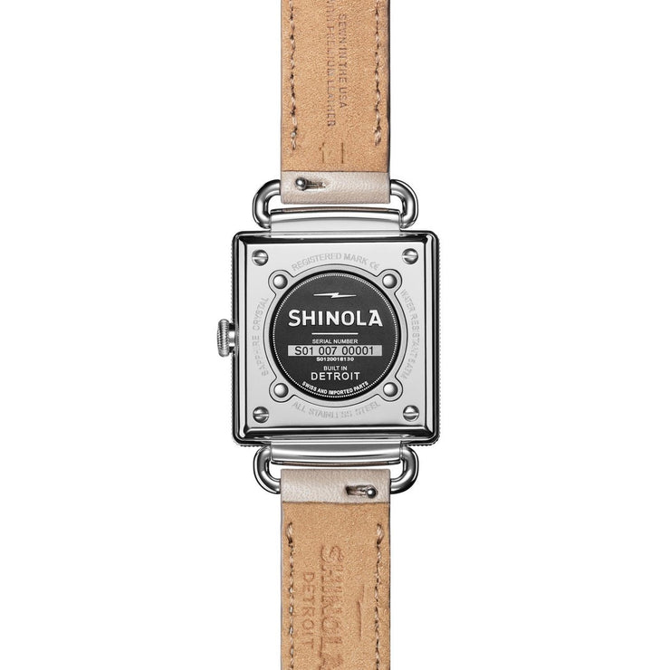 Shinola Cass 28mm Cream Pink