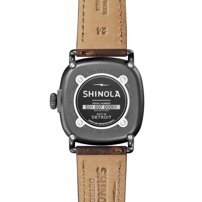 Shinola The Guardian 41.5mm Grey Brown angled shot picture