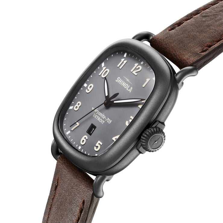 Shinola The Guardian 41.5mm Grey Brown
