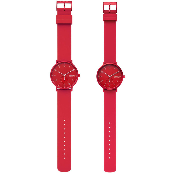 Skagen SKW1117 Aaren Kulor His & Hers Red angled shot picture