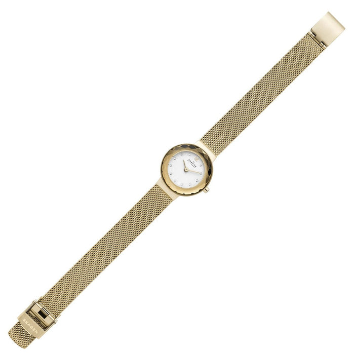 Skagen SKW2800 Leonora Gold SS angled shot picture