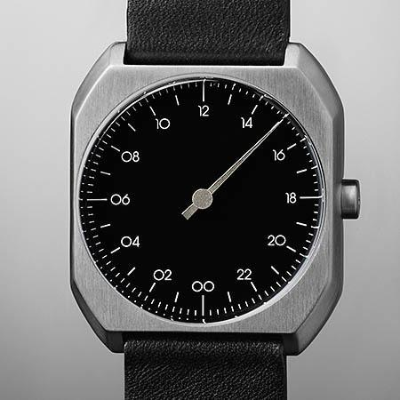 Slow Mo 06 Swiss One Hand Silver Black