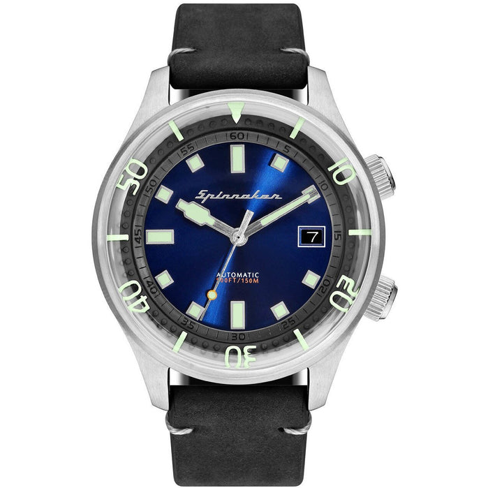 Spinnaker Bradner Automatic Blue Black angled shot picture