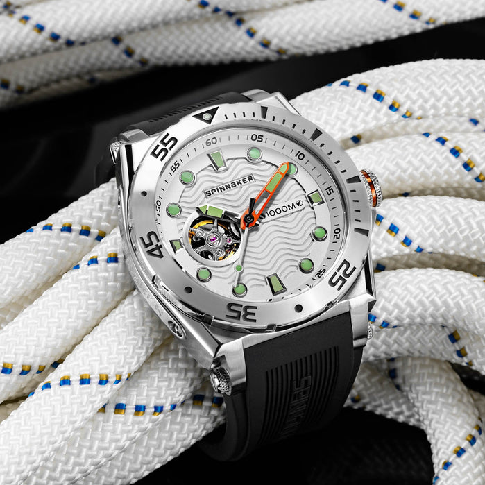 Spinnaker Overboard 1000M Automatic Black Silver angled shot picture