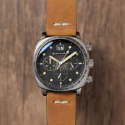 Spinnaker Hull Chronograph Black Brown