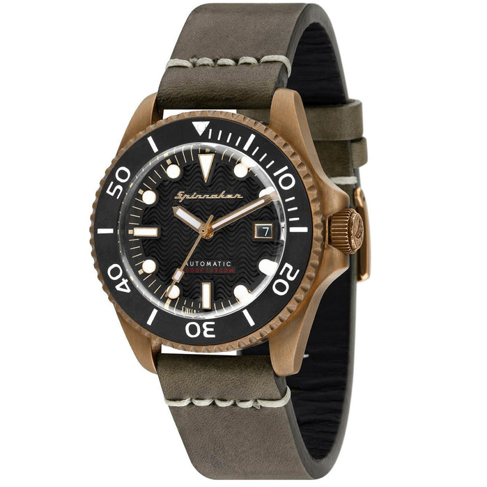 Spinnaker Tesei Swiss Automatic Bronze Dark Grey angled shot picture
