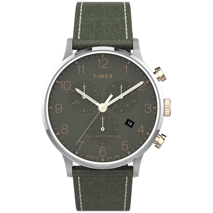 Timex Waterbury Classic Chronograph 40mm Silver Green