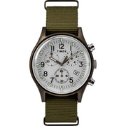 Timex MK1 Aluminum Chrono 40mm Olive Silver