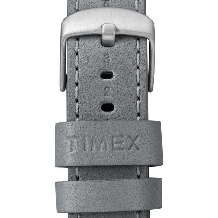 Timex Waterbury Traditional Silver Grey angled shot picture