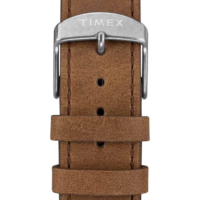 Timex Welton 38mm Gray Brown angled shot picture