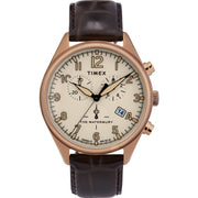 Timex Waterbury Traditional Chrono 42mm Gold Tan Brown