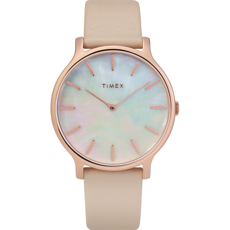 Timex Metropolitan Transcend 38mm Rose Gold Mother of Pearl