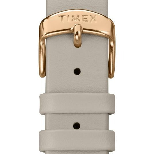 Timex Spring Swarovski Crystal 38mm Rose Gold White angled shot picture