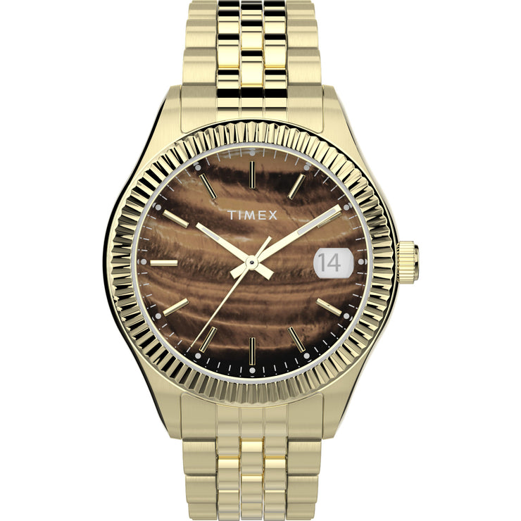 Timex Waterbury 34mm Gold Tigers-eye