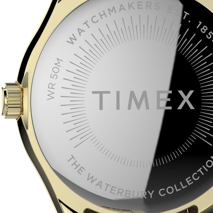Timex Waterbury 34mm Gold Tigers-eye angled shot picture