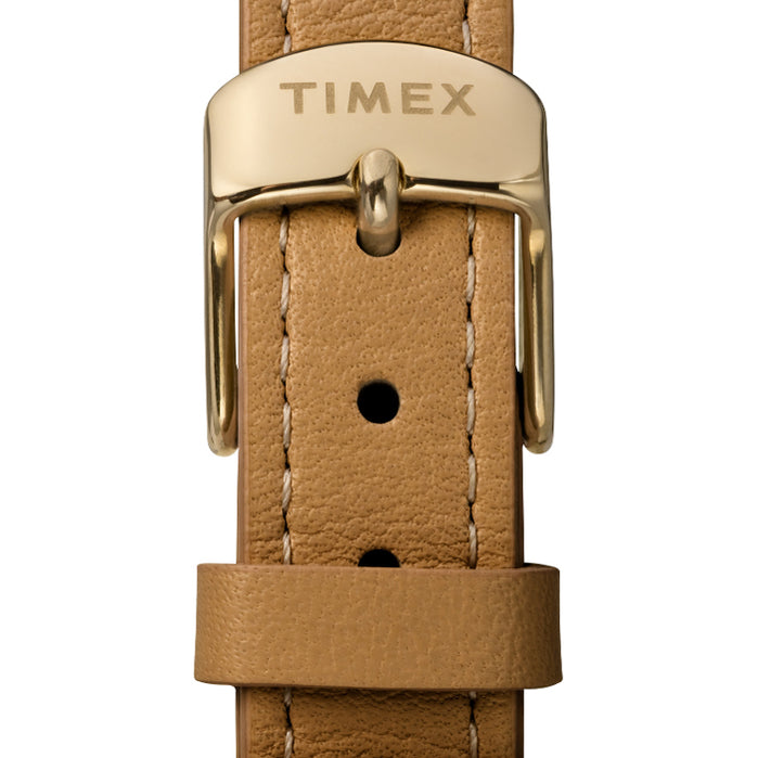Timex Model 23 33mm Gold Tan angled shot picture
