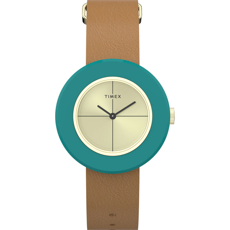 Timex Variety Complete 34mm Teal Gold