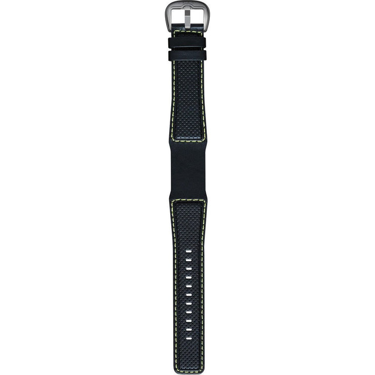 Dietrich Perforated Leather Strap with Yellow Stitching