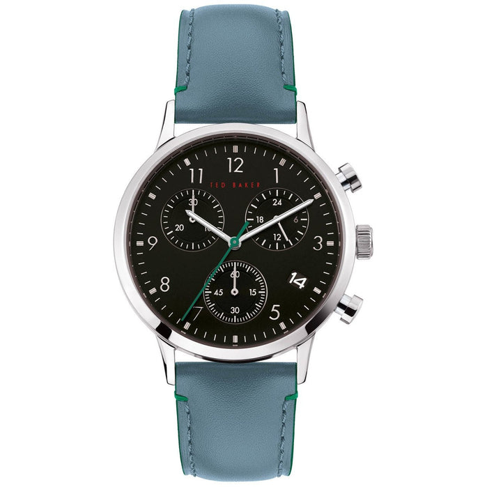 Ted Baker Cosmop Chronograph Silver Blue angled shot picture