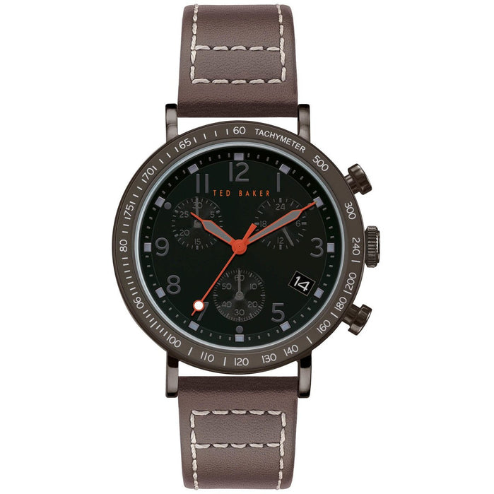 Ted Baker Marteni Chronograph Black Brown angled shot picture