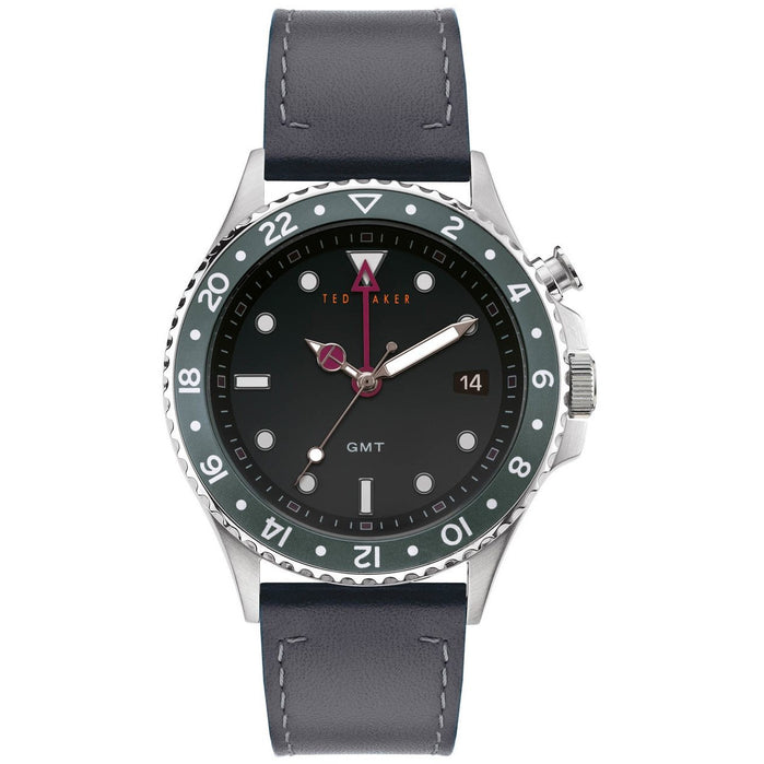 Ted Baker Oldfash GMT Silver Black angled shot picture
