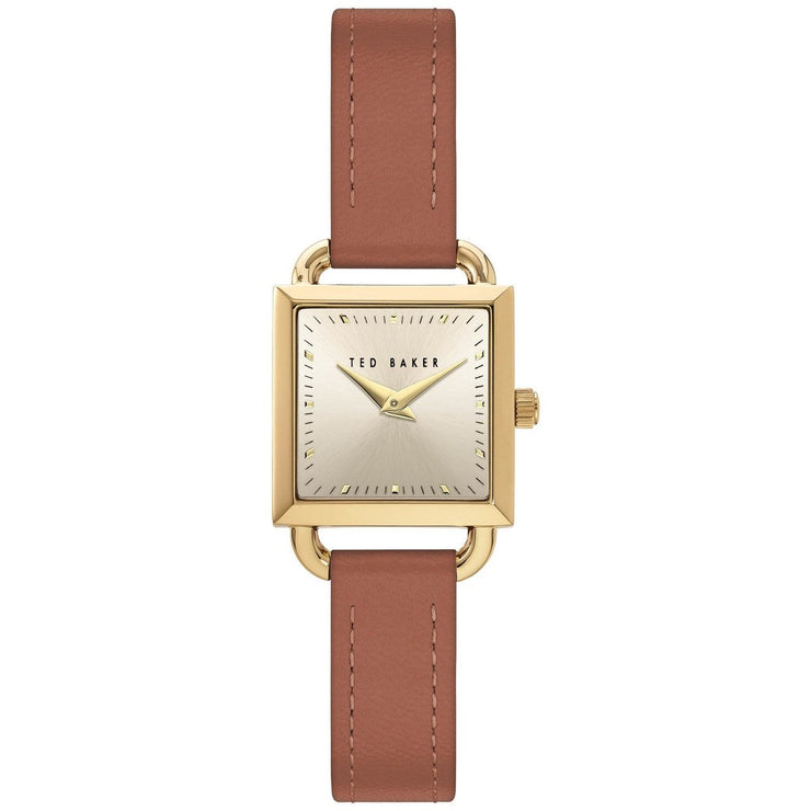 Ted Baker Taliah Square Gold Tan