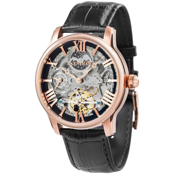 Thomas Earnshaw Longitude Skeleton Automatic Rose Gold Brown