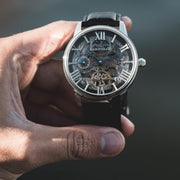 Thomas Earnshaw Longitude Skeleton Automatic Silver Black