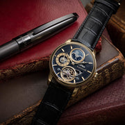 Thomas Earnshaw Longitude Hemisphere Automatic Gold Black