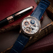 Thomas Earnshaw Longitude Hemisphere Automatic Rose Gold Blue