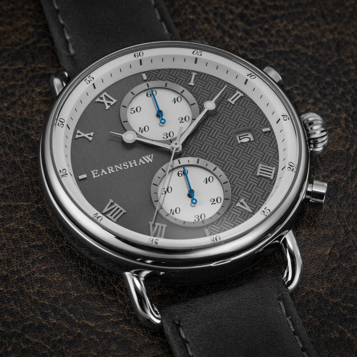 Thomas Earnshaw Investigator Chrono Silver Grey angled shot picture