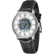 Thomas Earnshaw Westminster Skeleton Hand Wind Silver Black