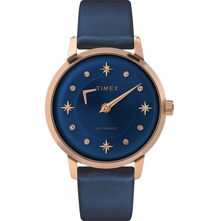 Timex Celestial Opulence 38mm Automatic Blue Rose Gold