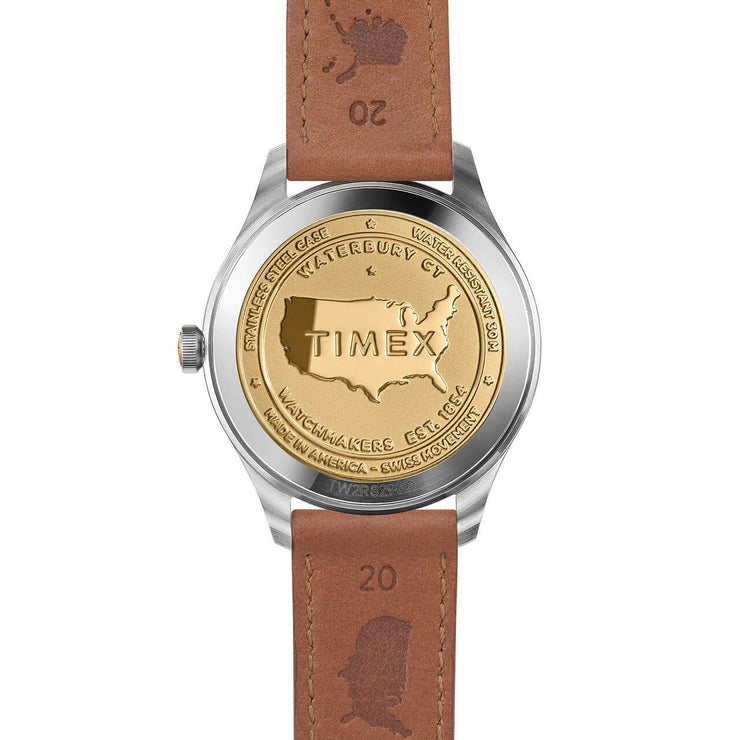 Timex American Documents 41mm Navy Brown