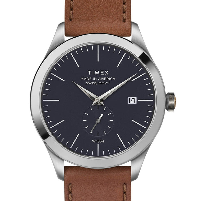 Timex American Documents 41mm Navy Brown angled shot picture