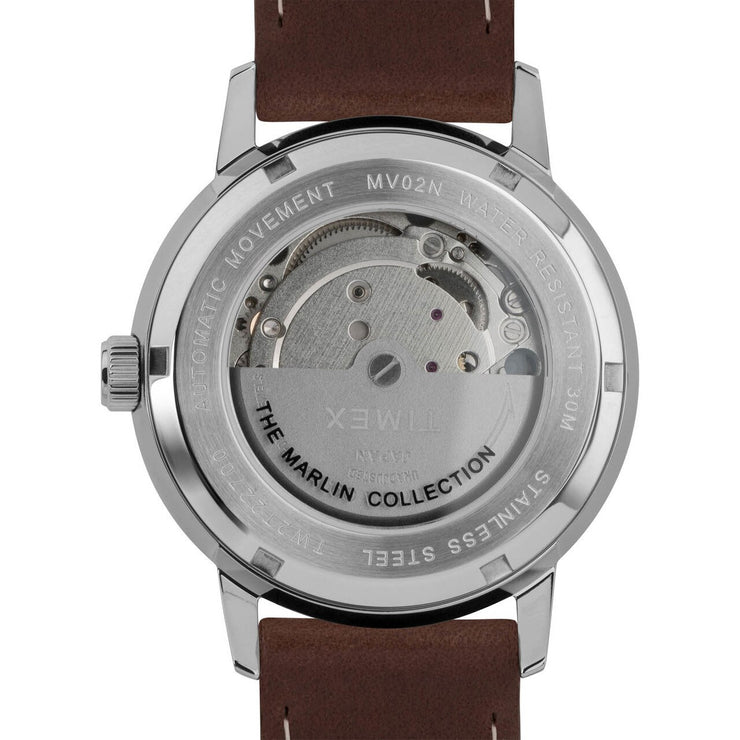 Timex Marlin 40mm Automatic Brown Silver